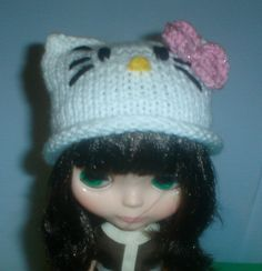 Blythe Hello Kitty Hat by crochesuenos on Etsy, $15.00