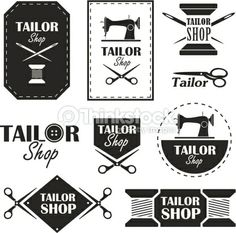 Vector Art : Tailor shop