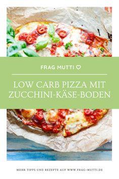Für diejenigen, die Kohlenhydrate in ihrer Ernährung reduzieren wollen, ist dieses Rezept für eine köstliche Low Carb Pizza mit Zucchini-Käse-Boden eine tolle Idee.  #pizza #lowcarbpizza #lowcarb #gesund #zucchini Lowcarb Pizza, Zucchini, Law, Tacos, Ethnic Recipes, Food, Oven, Slim, Healthy