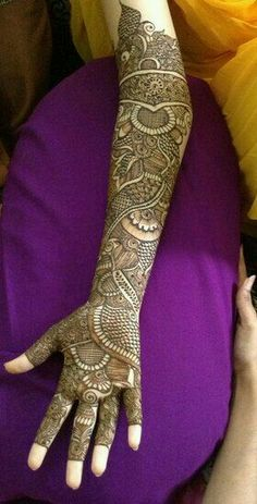 Bridal Mahandi design.