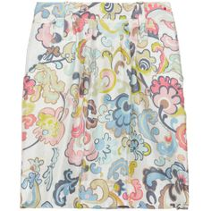 See by Chloé Printed Silk-Twill Skirt ($145) found on Polyvore
