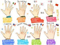 Wow England's hands kinda look like mine XD<<< mine looks like Japan's because they're tiny as fuck<< I have France's!!!
