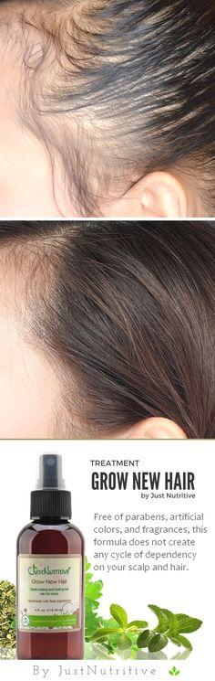 Grow New Hair Treatment, Revives sleeping follicles and prom.- Grow New Hair Treatment, Revives sleeping follicles and promote healthy hair growth - Natural Hair Styles, Long Hair Styles, Hair Remedies, Acne Remedies, Natural Remedies, Shaved Hair, Tips Belleza, Hair Health, Hair Hacks