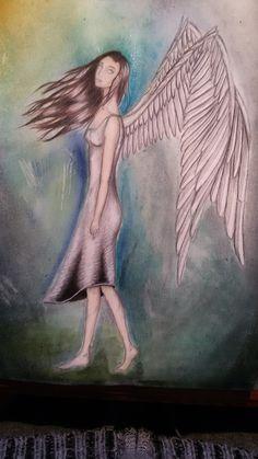 angel colour pencils A4