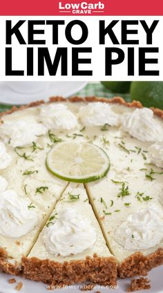 VISIT FOR MORE Best homemade keto key lime pie recipe! This low carb key lime dessert pie is so delicious and easy to make. It is sugar-free, gluten-free and paleo-friendly. Find out how to make this healthy dessert recipe. Key Lime Desserts, Desserts Keto, Desserts Sains, Healthy Dessert Recipes, Keto Snacks, Easy Low Carb Dessert, Lime Recipes Healthy, Breakfast Recipes, Blueberry Recipes