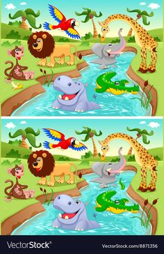 Buy Spot the Differences by ddraw on GraphicRiver. Spot the Differences. Two images with six changes between them, vector and cartoon illustrations. Find The Difference Pictures, Spot The Difference Puzzle, Spot The Difference Printable, Kids Learning Activities, Language Activities, Spanish Activities, Find The Differences Games, Picture Comprehension, Mazes For Kids