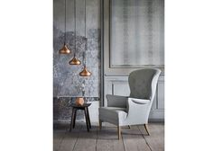 Copper and grey, nice mix. Modern Interior, Modern Furniture, Furniture Design, Interior Design, Danish Modern, Danish Style, Suspension Design, Sofa Upholstery, Scandinavian Design