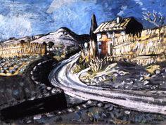 Chambre par la route, huile sur toile de Auguste CHABAUD(1882-1955, France)