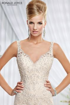 ERIN wedding dress by Ronald Joyce A lace over organza fishtail with beaded  back detail   50add8869a