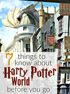 7 Things You Need to Know About Harry Potter World Before You Go
