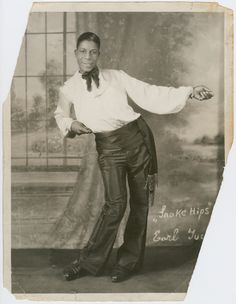 """Earl """"Snakehips"""" Tucker in about His dancing was entertainment that played to the illicit appeal of Harlem nightclubs."""