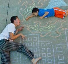 So fun! That's a great big brother for you! When it's summer I want to do fun pictures like this with my kids.