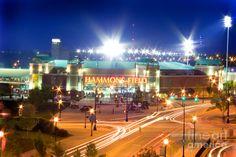 Hammons Field Hammons Field, home stadium of the minor league Springfield Cardinals baseball team. Night shot during home opener. Long exposure.