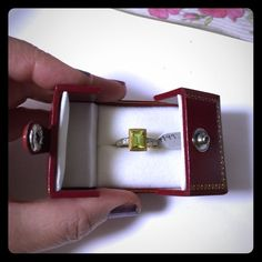 """reduced✂️10k peridot ring Brand new 10k gold ring with peridot and diamonds on the side. Never worn in gift box. Treat someone you love or buy for yourself, you deserve it. Size 7 1/2""""☺️Price is firm unless bundled☺️No offers entertained 10% off bundles - bundle and save About bundles: Bundles are individual listings that include multiple items from my closet and are sold to one buyer (so you only have to hit the buy button and pay for shipping once). Saving you  Jewelry Rings"""