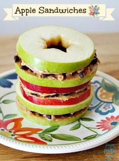 Apple Sandwiches {Diabetic Friendly}