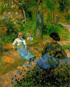 Paysans repos - Camille Pissarro