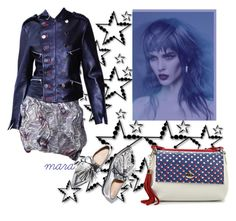 """""""Stars on a Blue Monday... :-)"""" by marastyle ❤ liked on Polyvore featuring Loeffler Randall"""