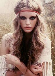 Astonishing 60S Hippie Makeup And Hair Mugeek Vidalondon Hairstyle Inspiration Daily Dogsangcom