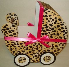 1 Cheetah / Leopard and Hot Pink Baby Carriage by RainbowShowers, $19.00 , would make a nice centerpiece