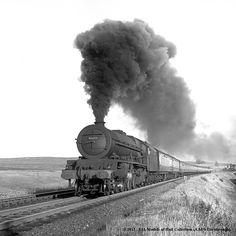 08/1955 - Shap Wells. 46211 Steam Trains Uk, Grey Wallpaper Iphone, Architectural Floor Plans, Steam Railway, British Rail, Steamers, Steam Engine, Steam Locomotive, Train Station