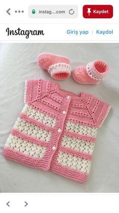 Crochet Baby Blanket Free Pattern, Baby Cardigan Knitting Pattern, Baby Knitting Patterns, Crochet Patterns, Crochet Baby Sweaters, Baby Girl Sweaters, Crochet Designs, Knitting Designs, Crochet Crafts