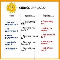 English Phrases, English Words, English Grammar, Turkish Lessons, Learn Turkish Language, Grammar And Vocabulary, English Vocabulary, English Reading, English Language Learning