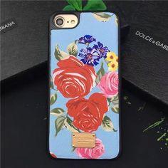 Dolce最新iPhone8/7s/7Plus/6sケース エスニック花柄バラ薔薇ローズ ドルチェ&ガッバーナ絵柄パイナップル果物苺