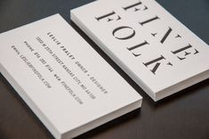 Finefolk business card by Design Ranch
