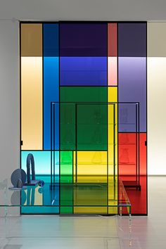 SHERAZADE PATCHWORK - Glass movable wall by Glas Italia
