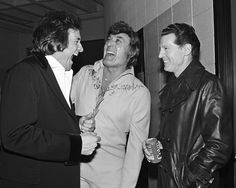 CNN Photos - Johnny Cash, Carl Perkins and Jerry Lee Lewis of the Million Dollar Quartet before a show in 1982. CNN.com Blogs