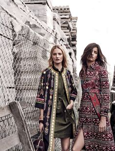 currently trending: astrid holler and talisa quirk by duncan killick for sunday style september 2015 - (R) Burberry Fall 2015 Bohemian Mode, Bohemian Style, Boho Chic, Hippie Chic, Boho Fashion, Fashion Outfits, Fashion Design, Fashion Trends, Gaucho