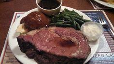 Prime rib, cooked rare @ Ellis Island Cafe