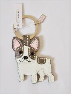 43336fe31a Coach French Bulldog Multi Leather Key Ring Keychain Charm NWT #fashion  #clothing #shoes #accessories #womensaccessories #keychainsringsfinders  (ebay link)