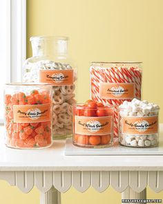 Candy Jar Treats - Martha Stewart Halloween