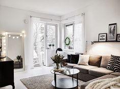 Un piso en blanco y negro con detalles nórdicos, modernos y románticos!