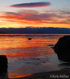 Sunset on Lake Pend Orielle, Sandpoint, Idaho