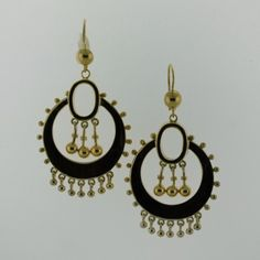 Stonehome Estate jewelers 14k yellow gold Victorian earrings