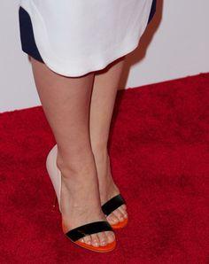 "America Ferrera wearing colorblock Kurt Geiger ""Bank"" sandals at the 'X/Y' Premiere | Trend 911"