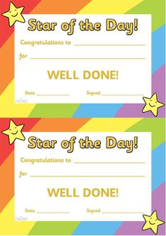 Free Printable Student Of the Month Certificate Templates Luxury Twinkl Resources Star Of the Day Poster Classroom Classroom Organisation, Classroom Rules, Classroom Management, Award Certificates, Certificate Templates, Printable Certificates, Preschool Certificates, Blank Certificate, Behaviour Management