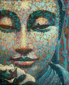 VIRGINIA PECK - PEINTRE  Innocence, 20 x 16, acry. on canvas, 2007