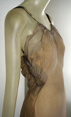 Vionnet Ensemble - 1939 - by Madeleine Vionnet (French, 1876-1975) - Silk, metallic ribbon - @Mlle