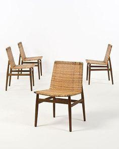 Jørgen Høj - Teak and Cane Side Chairs for Thorald Madsen, 1951