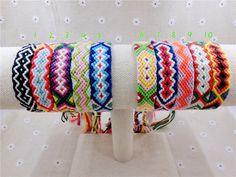 Charm Woven Rope String Hippy Boho Embroidery Cotton Friendship Bracelets