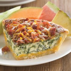 Freshly prepared quiche from Marie Callender's bakery #quiche ...