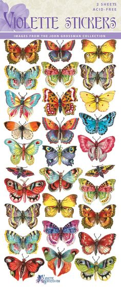 Violette Stickers C14- Tropical Butterflies