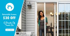 6 Reasons to Buy Your Trouble-Free Brisa Retractable Screen at Zabitat! A fresh approach to fresh air. Brisa retractable screens eliminate the hassles of traditional screen doors and creates a trouble-free entrance for your guests. #screendoor