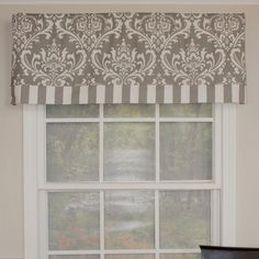 "Found it at Wayfair - Royal Damask Banded 50"" Curtain Valance"