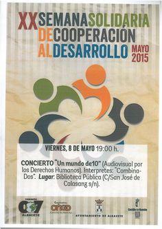"""#actividadesbiblioteca Concierto """"Un mundo de 10"""" Viernes, 8 de mayo a las 19 horas."""