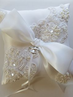 Almohada cojín de la boda almohada de encaje de la boda