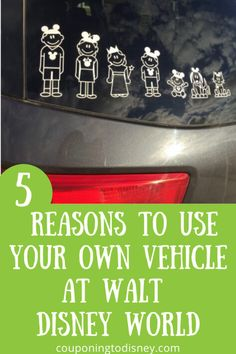 5 Reasons To Use Your Own Vehicle At Walt Disney World Disney World Vacation Planning, Walt Disney World Vacations, Cruise Vacation, Disney Cruise, Disney Trips, Disney World Transportation, Disney Travel Agents, Disney World Tips And Tricks, Feeling Overwhelmed